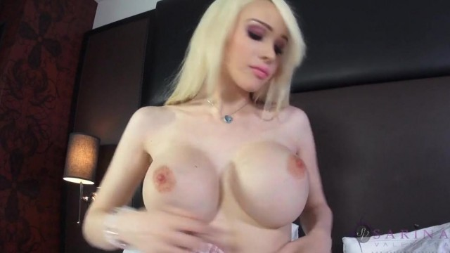 Shemale with big tits masturbate and fuck her ass Video thumb #1