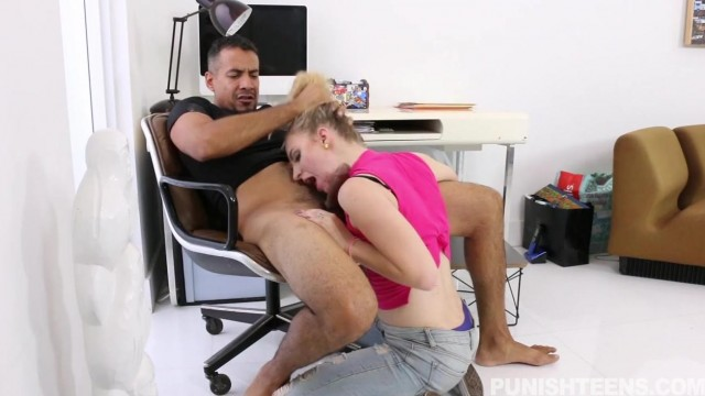 Punish Teens - Hardcore blowjob and a few spanks Video thumb #10