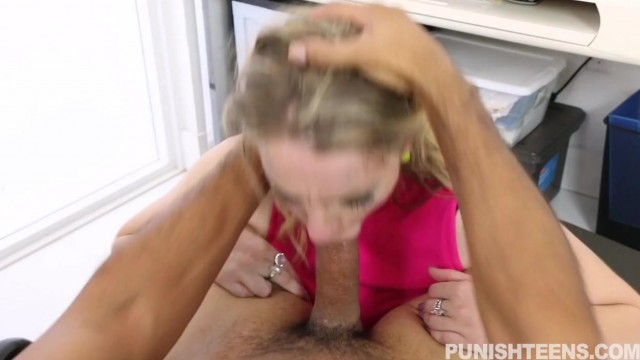 Punish Teens - Hardcore blowjob and a few spanks Video thumb #11