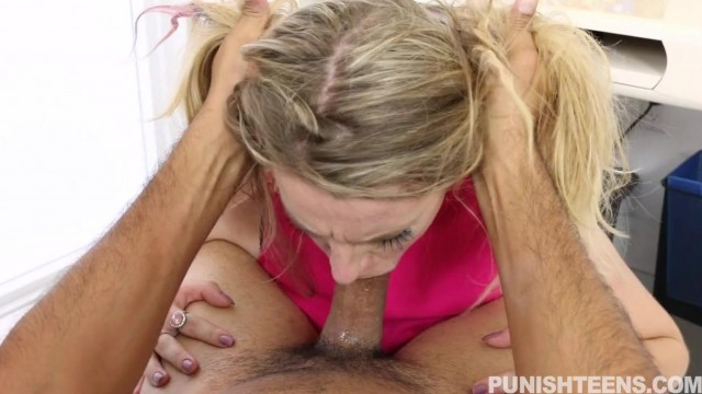 Punish Teens - Hardcore blowjob and a few spanks