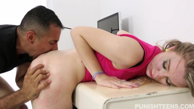 Punish Teens - Hardcore blowjob and a few spanks Video thumb #15