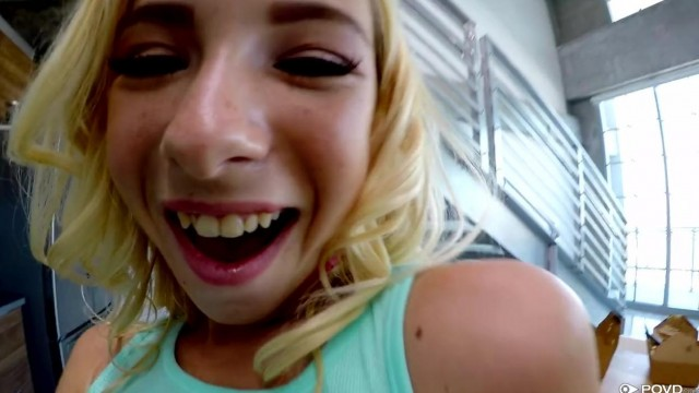 POVD - Petite blonde teen sucks cock Video thumb #2