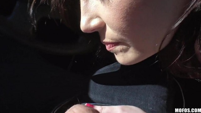 MOFOS - Brunette gives blowjob in car Video thumb #11