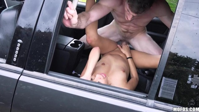 Teen fucked hard in the car and screaming by the window Video thumb #15