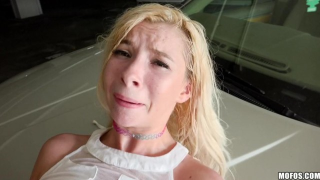 MOFOS - Blonde teen gives head and rides cock on parking Video thumb #18