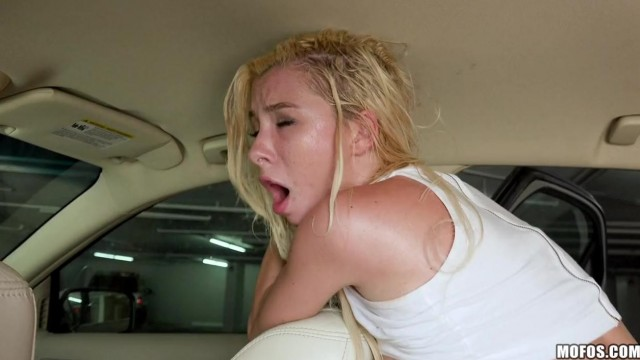 MOFOS - Blonde teen gives head and rides cock on parking Video thumb #5