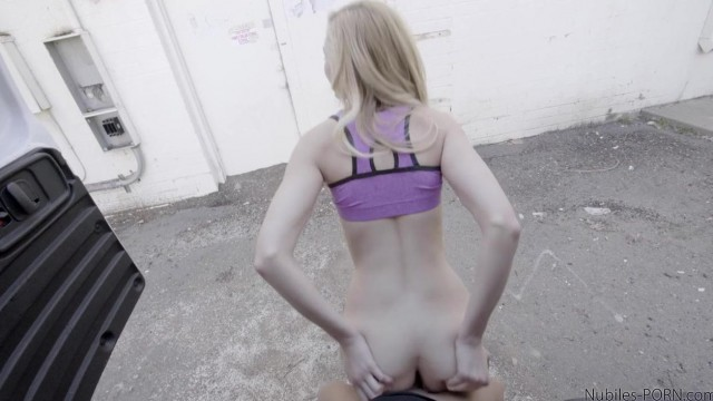 Outdoor - Skinny teen sucks and rides cock outside Video thumb #9