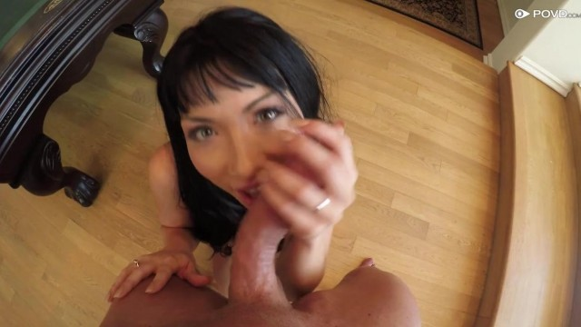 POVD Porn - Brunette gives head Video thumb #5