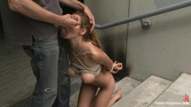 Public Disgrace - Street naked bondage Video thumb #12