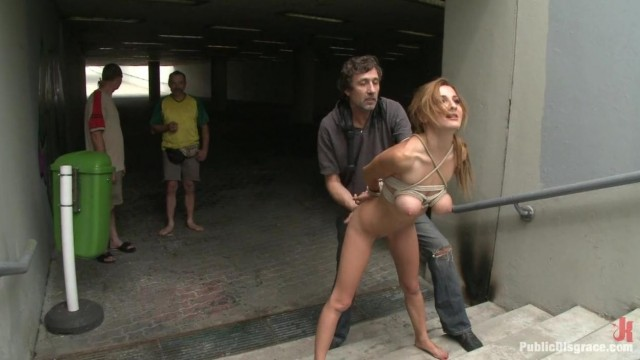 Public Disgrace - Street naked bondage Video thumb #18
