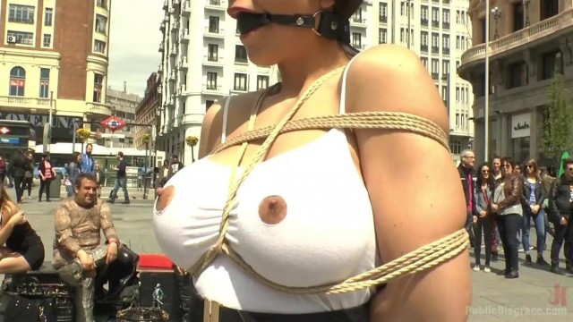 Public disgrace - big tits blonde humiliated Video thumb #2