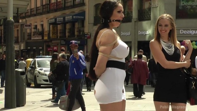 Public disgrace - big tits blonde humiliated Video thumb #6