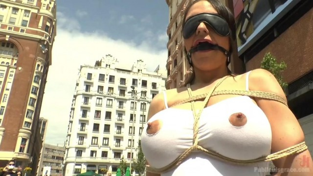 Public disgrace - big tits blonde humiliated Video thumb #7