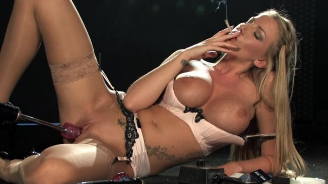 Sex machine - Machine fucks blonde while she smokes Video thumb #15