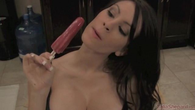 Big tits brunette plays with ice cream Video thumb #6