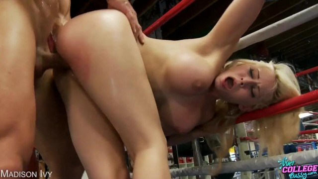 Porn Title: Madison Ivy fucked on a boxing ring