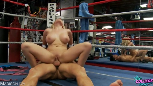 Madison Ivy fucked on a boxing ring Video thumb #6