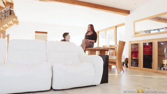 BRAZZERS - Stepmom with huge tits fucks stepson Video thumb #5
