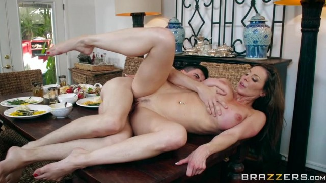 BRAZZERS - Aunt touches his dick under table and fuck Video thumb #15