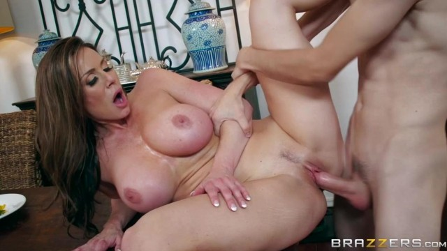 BRAZZERS - Aunt touches his dick under table and fuck Video thumb #4