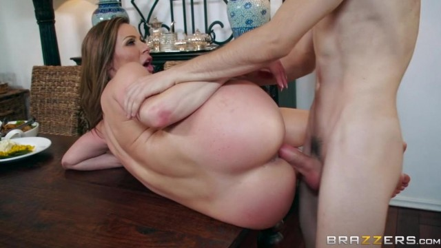 BRAZZERS - Aunt touches his dick under table and fuck Video thumb #8
