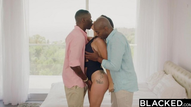 Blacked Threesome with huge black dicks Video thumb #1