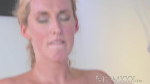MOMXXX COM - Blonde MILF seduces young boy Video thumb #16