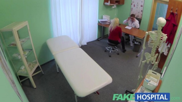 Fake Hospital - Doctor fingers blonde pussy and gets a blowjob Video thumb #0