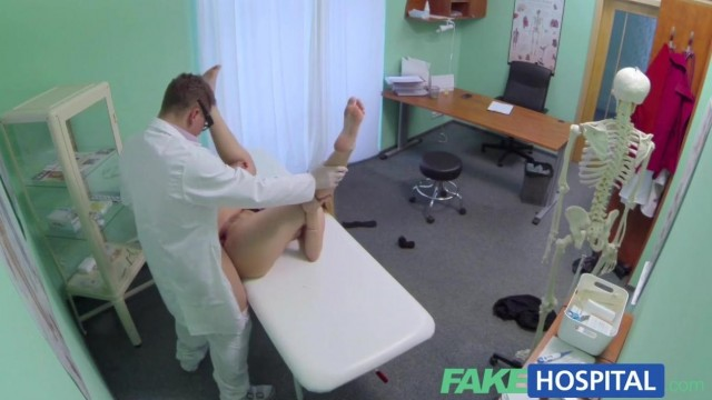 Fake Hospital - Doctor fingers blonde pussy and gets a blowjob Video thumb #13