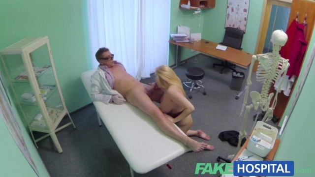 Fake Hospital - Doctor fingers blonde pussy and gets a blowjob Video thumb #14