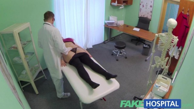 Fake Hospital - Doctor fingers blonde pussy and gets a blowjob