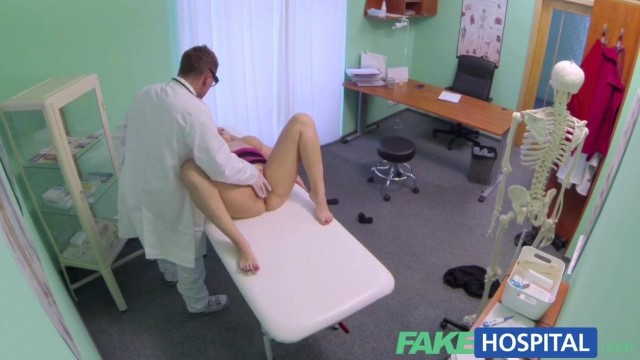 Fake Hospital - Doctor fingers blonde pussy and gets a blowjob Video thumb #7