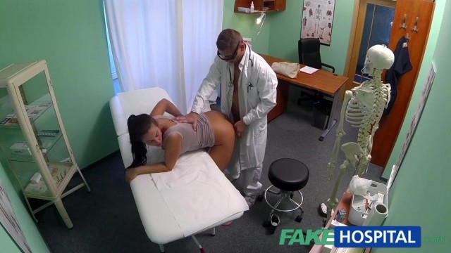 FakeHospital - Dick loving brunette MILF nailed in hospital