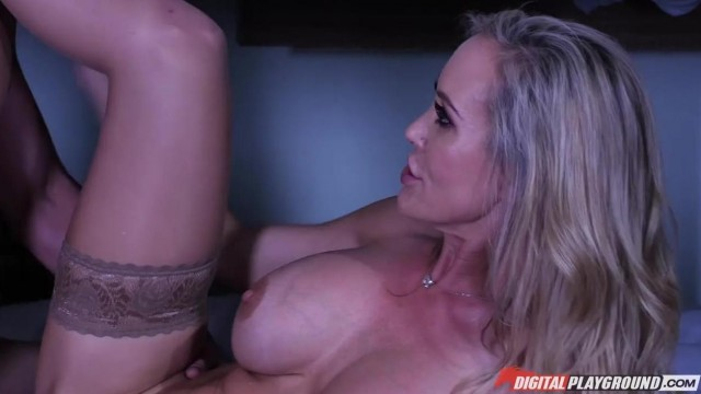 MILF caught him jerking off and help him with a blowjob Video thumb #10