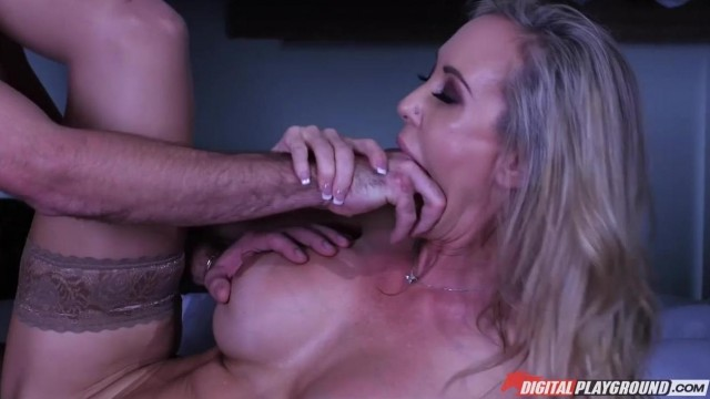 MILF caught him jerking off and help him with a blowjob Video thumb #11