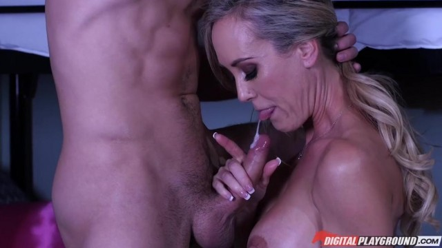 MILF caught him jerking off and help him with a blowjob Video thumb #16