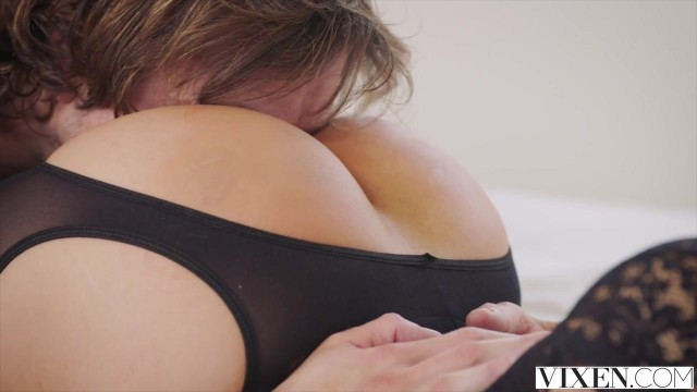 Vixen com - Latina in open pantyhose takes big dick deep inside Video thumb #9