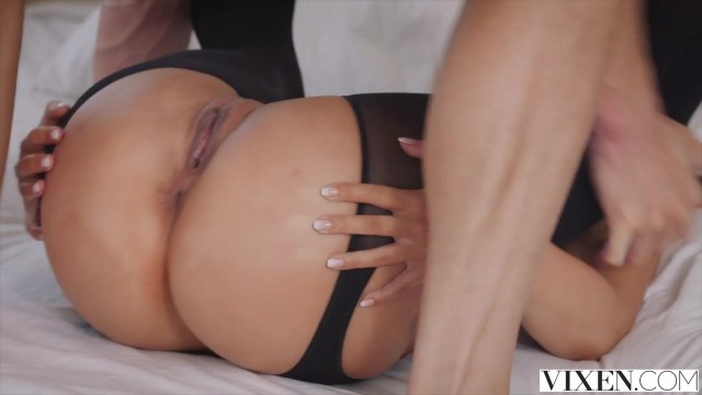 Vixen com - Latina in open pantyhose takes big dick deep inside Video thumb #13