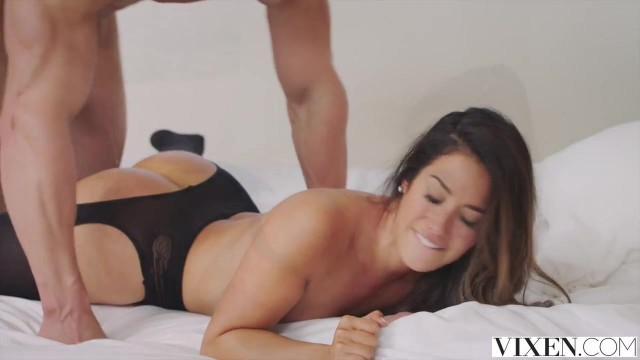 Vixen com - Latina in open pantyhose takes big dick deep inside Video thumb #16