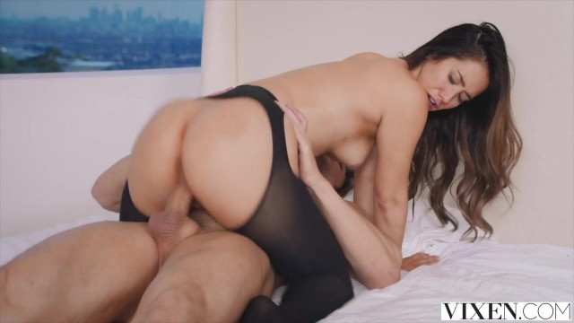 Vixen com - Latina in open pantyhose takes big dick deep inside Video thumb #19