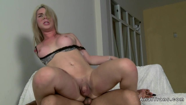 Shemale Porn - Blonde tranny gives head and rides a cock Video thumb #10