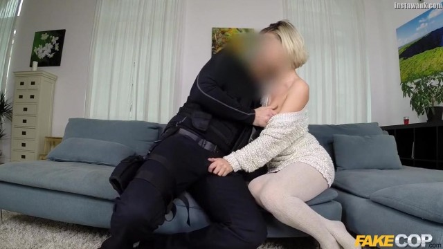 FAKECOP - Blonde housewife gives head and doggy Video thumb #2