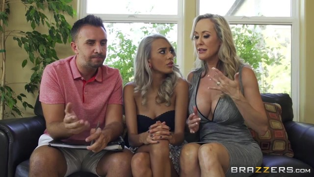 Brazzers threesome experience with two hot bitches Video thumb #3