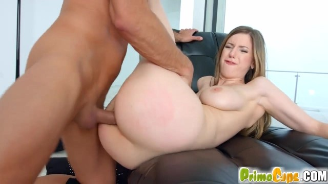 Stella Cox anal sex on chair and cumshot all over big natural boobs Video thumb #7
