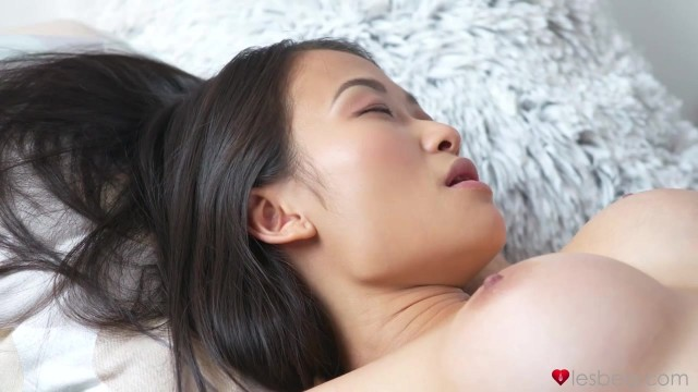 Asian Bombshell Enjoys A Tender Lesbian Tongue On Her Pussy Video thumb #1