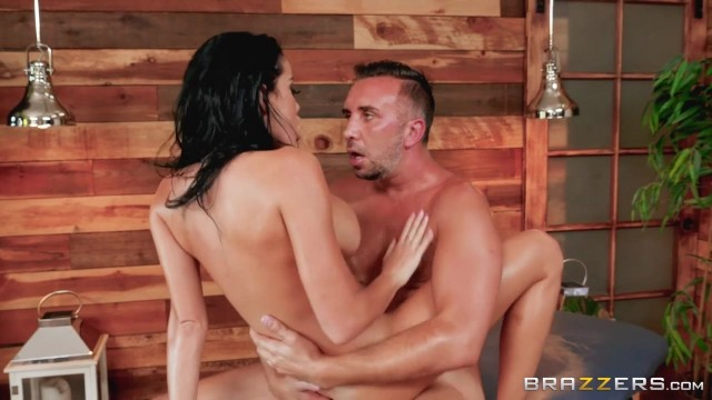 BRAZZERS - Brunette with oiled tits fucked Video thumb #15