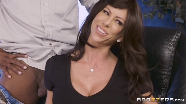 Brazzers - Busty Cougar Spits On BBC Before Sex Video thumb #1