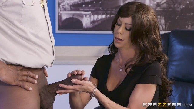 Brazzers - Busty Cougar Spits On BBC Before Sex Video thumb #4
