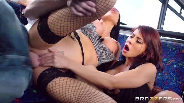 Brazzers Madison Ivy ,Jasmine Jae and Danny D playing in the bus Video thumb #7