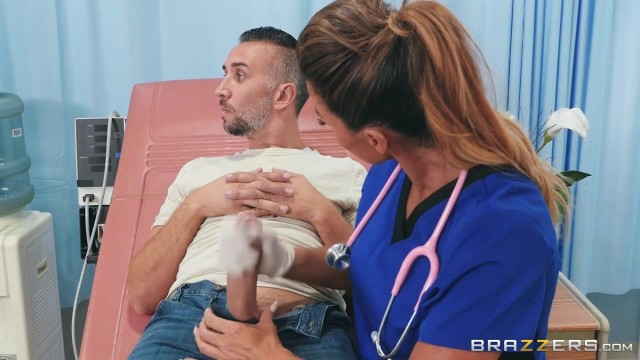 Doctor sucks Keiran Lee's 10 inch cock Video thumb #2